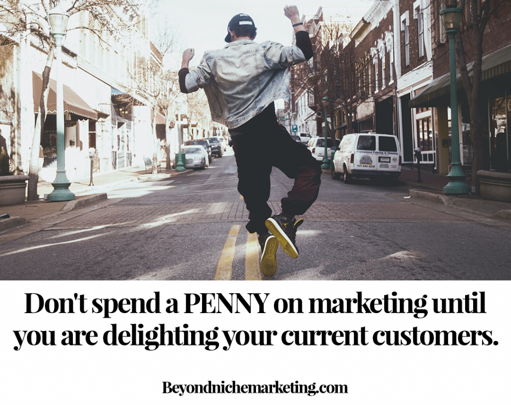 Don't spend a penny on marketing until you are delighting your current customers.